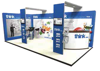 Linear Vector Messestand 6 x 3 m